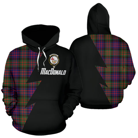 Image of Tartan All Over Hoodie - MacDonald (Clan Donald) Clans Badge - BN