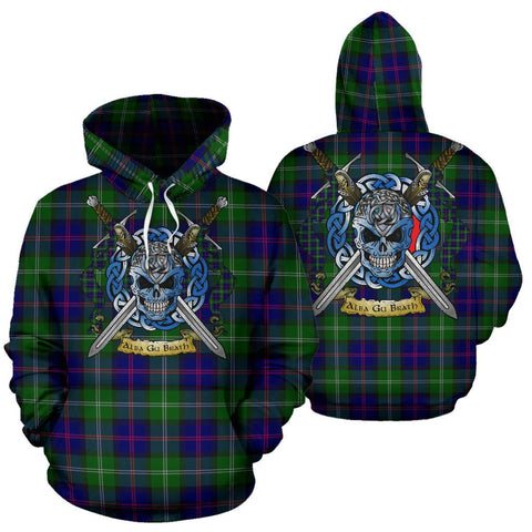 Image of MacThomas Modern Tartan Hoodie Celtic Scottish Warrior A79 | Over 500 Tartans | Clothing | Apaprel
