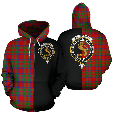 (Custom your text) MacKintosh Modern Tartan Hoodie Half Of Me TH8