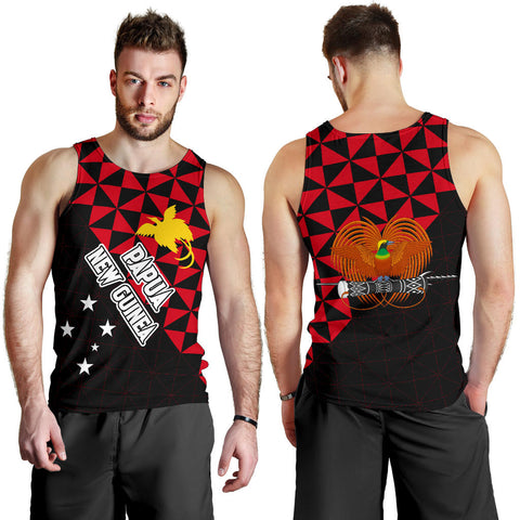 Image of Papua New Guinea Polynesian Men's Tank Top Coat Of Arms