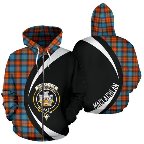 Image of MacLachlan Ancient Tartan Circle Zip Hoodie HJ4