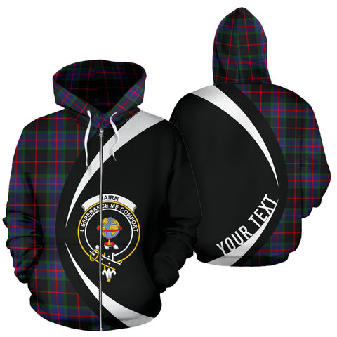 (Custom your text) Nairn Tartan Circle Zip Hoodie HJ4