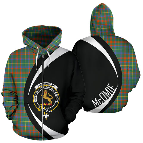 (McOmie) MacKintosh Hunting Ancient Tartan Circle Zip Hoodie HJ4