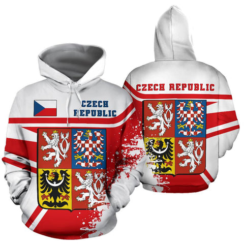 Image of Czech Republic Hoodie Painting Style Th52