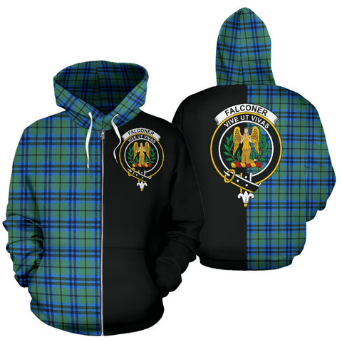 Falconer Tartan Hoodie Half Of Me TH8