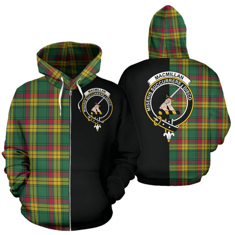 (Custom your text) MacMillan Old Ancient Tartan Hoodie Half Of Me TH8