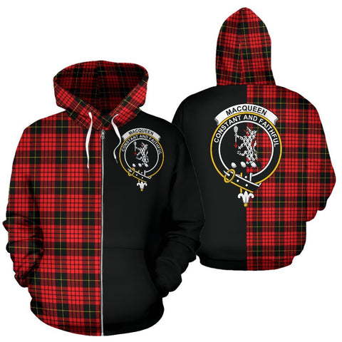 (Custom your text) MacQueen Modern Tartan Hoodie Half Of Me TH8