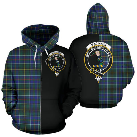 (Custom your text) MacInnes Modern Tartan Hoodie Half Of Me TH8