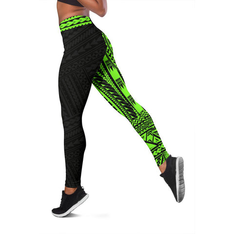 Polynesian Leggings Rising Green A62