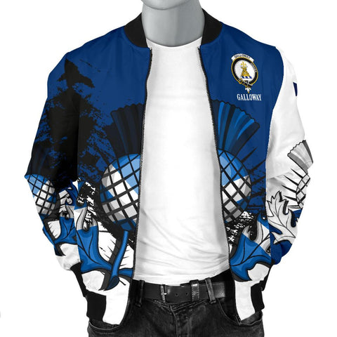 Galloway Crest Scottish Thistle Scotland Men's Bomber Jacket | Clothing | 1sttheworld