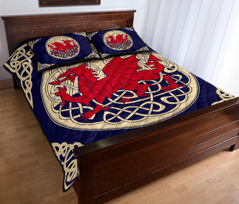 Wales Quilt Bed Set - Welsh Dragon Quilt Bed 01 - BN02