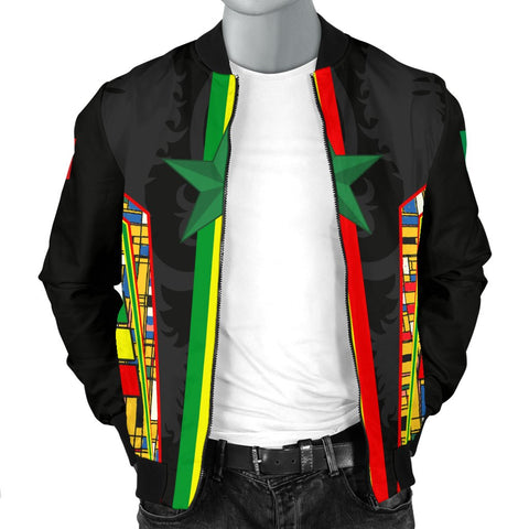 1sttheworld Senegal Men's Bomber Jacket - Senegal Flag Color And Coat Of Arm - BN17