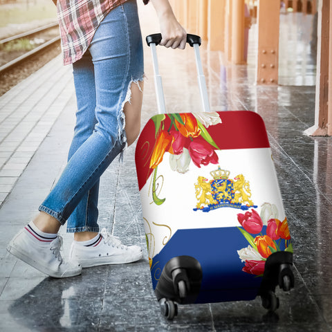 The Netherlands Tulips Luggage Cover | HOT Sale
