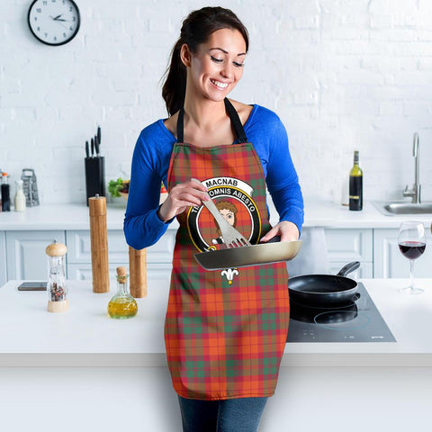 Image of MacNab Ancient Tartan Clan Crest Apron HJ4