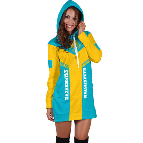 Kazakhstan Hoodie Dress Rising Women A10