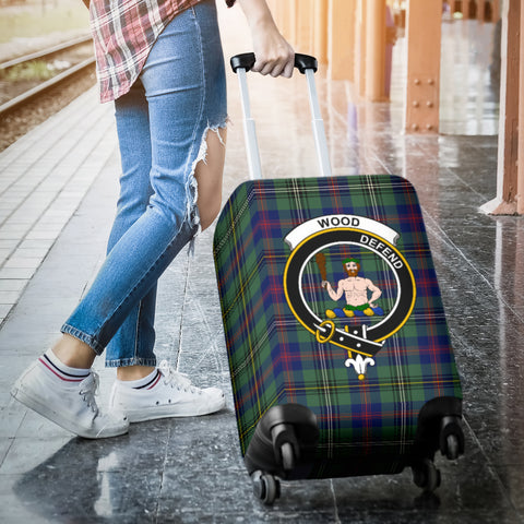 Image of Wood Tartan Clan Badge Luggage Cover Hj4 | Love The World