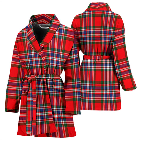 Macfarlane Modern Bathrobe - Women Tartan Plaid Bathrobe Universal Fit