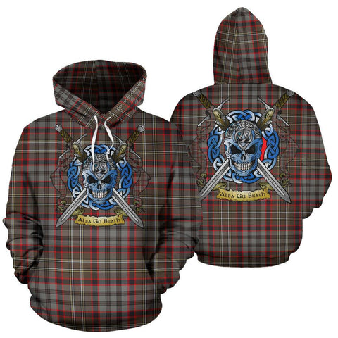 Nicolson Hunting Weathered Tartan Hoodie Celtic Scottish Warrior A79 | Over 500 Tartans | Clothing | Apaprel