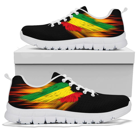 Ethiopia Sneakers - Fire Wings and Flag A188