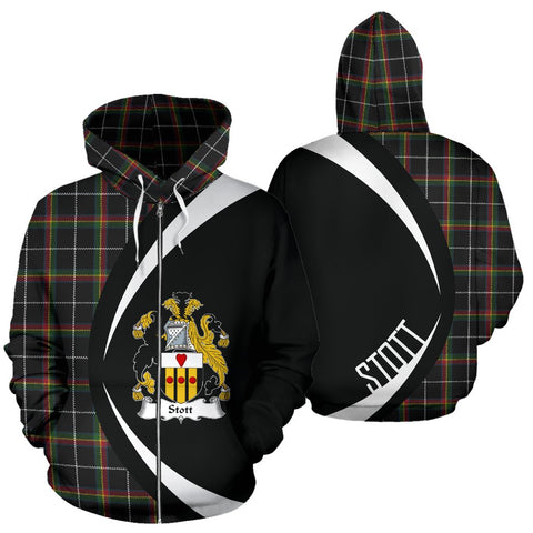 Stott Tartan Circle Zip - Up Hoodie HJ4
