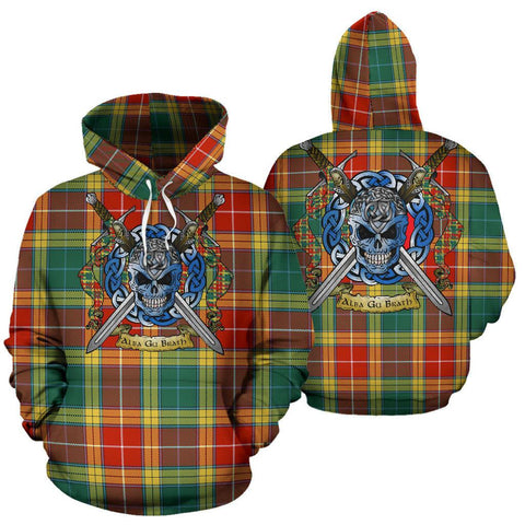 Buchanan Old Sett Tartan Hoodie Celtic Scottish Warrior A79 | Over 500 Tartans | Clothing | Apaprel