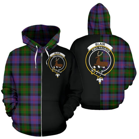 (Custom your text) Blair Modern Tartan Hoodie Half Of Me TH8