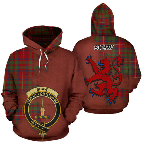 Image of Shaw Red Modern Clan  Tartan Hoodie