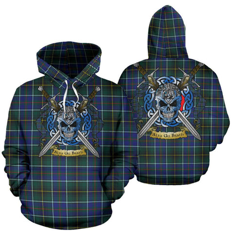 MacInnes Modern Tartan Hoodie Celtic Scottish Warrior A79 | Over 500 Tartans | Clothing | Apaprel