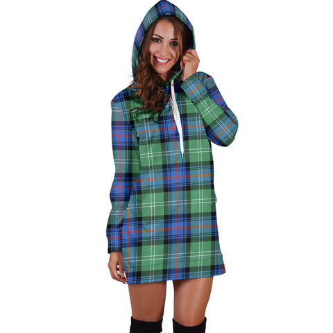 Sutherland Old Ancient Tartan Hoodie Dress HJ4 |Women's Clothing| 1sttheworld