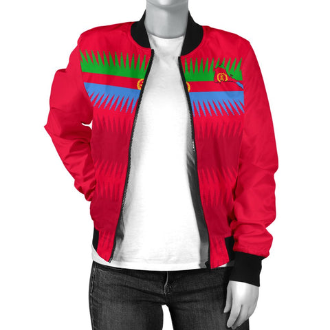 Eritrea United Flag - Red Women's Bomber Jacket A15
