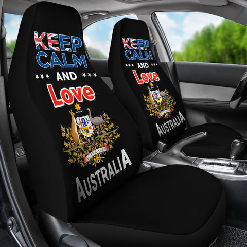 Image of Keep Calm and Love Australia Cover Car Seat Version Black NN2