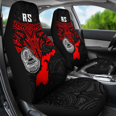 American Samoa Polynesian Car Seat Covers - Whale Tail