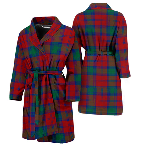 Lindsay Modern Bathrobe - Men Tartan Plaid Bathrobe Universal Fit