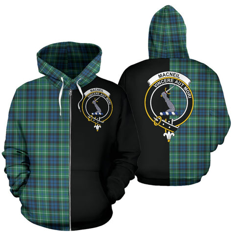 MacNeill of Colonsay Ancient Tartan Hoodie Half Of Me TH8