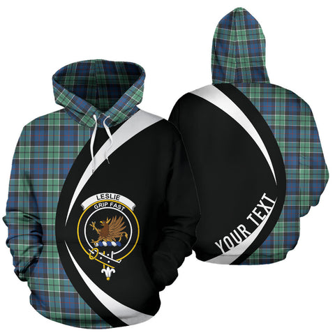 (Custom your text) Leslie Hunting Ancient Tartan Circle Hoodie HJ4