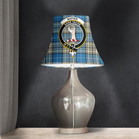 Image of Napier Ancient Tartan Clan Crest Bell Lamp Shade HJ4
