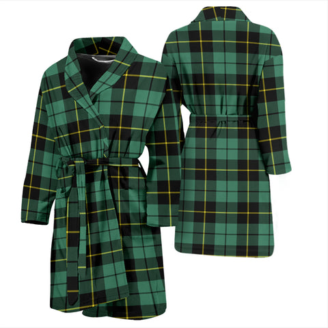 Image of Wallace Hunting Ancient Tartan Men's Bathrobe - Bn04