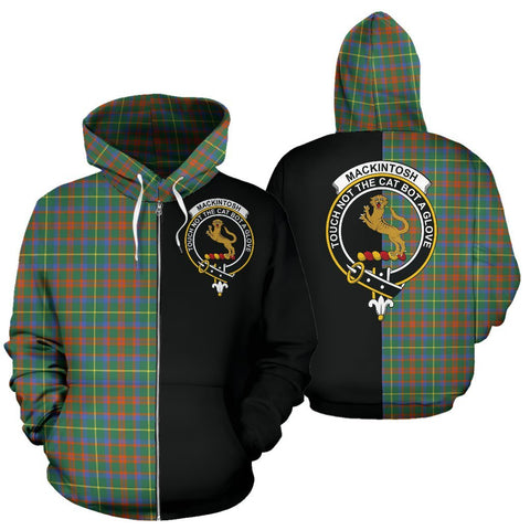 (Custom your text) MacKintosh Hunting Ancient Tartan Hoodie Half Of Me TH8