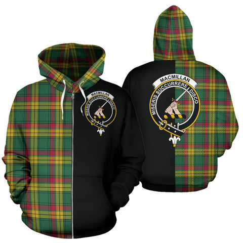 MacMillan Old Ancient Tartan Hoodie Half Of Me TH8
