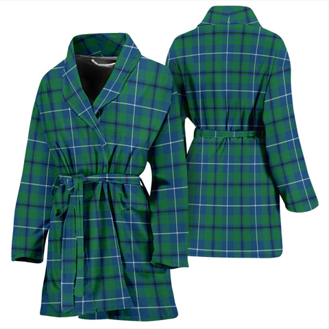 Douglas Ancient Bathrobe - Women Tartan Plaid Bathrobe Universal Fit
