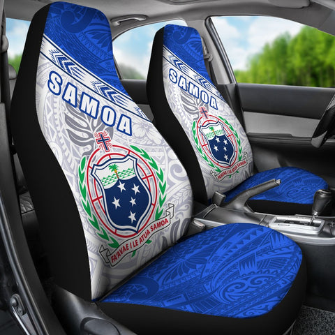Image of Samoa Rugby Car Seat Covers Spirit Manu Samoa White K13