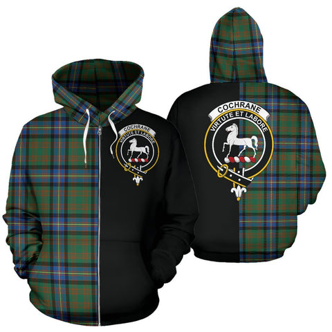 (Custom your text) Cochrane Ancient Tartan Hoodie Half Of Me TH8