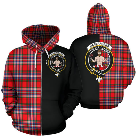 Image of MacFarlane Modern Tartan Hoodie Half Of Me TH8