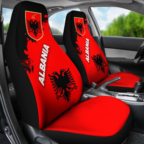 Albania Car Seat Covers Red Braved Version K12