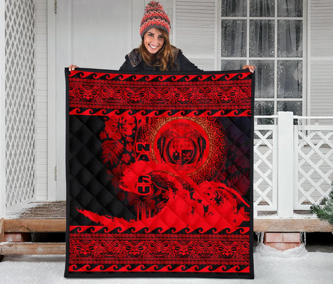 Image of Nauru Quilt Wave Red Design K62