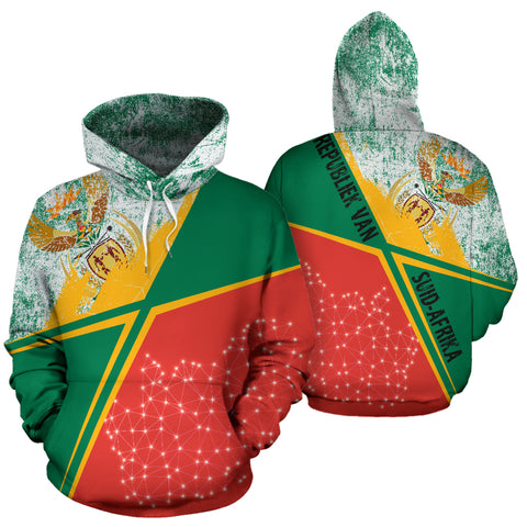Image of SA Hoodie - X Style - Green Mix Red - Front and Back - For Men and Women