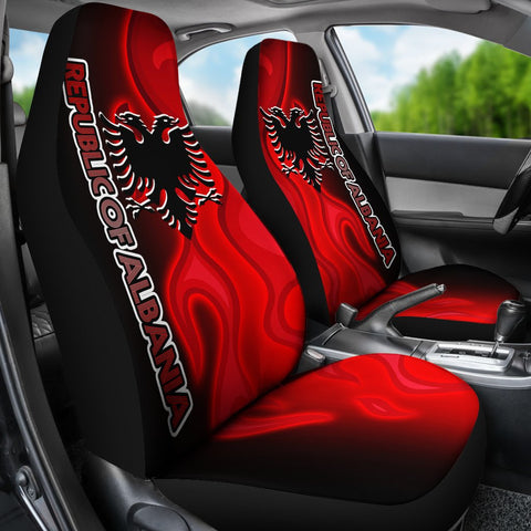 Image of Albania Car Seat Covers - Albanian Flame - BN15