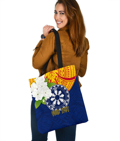 Image of The Philippines Personalised Tote Bags - Filipino  Sampaguita