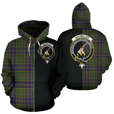 (Custom your text) MacMillan Hunting Modern Tartan Hoodie Half Of Me TH8