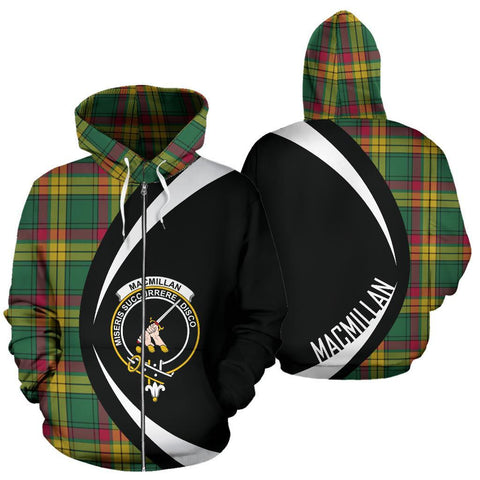 MacMillan Old Ancient Tartan Circle Zip Hoodie HJ4